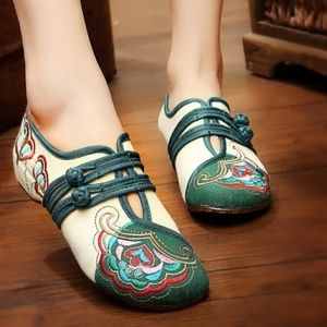 Cute Embroidered Slip on Shoes